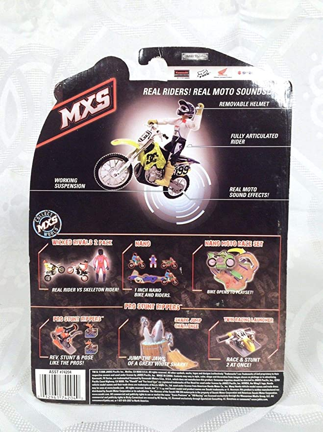 Amazon.com: Jakks Pacific Retired 2008 Travis Pastrana MXS ...