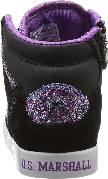 US Marshall Datacha, Baskets Mode Fille Noir (NoirViolet