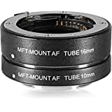 Neewer® Aluminum Alloy Metal Bayonet Auto Focus Macro Close-up Extension Tube Set 10mm, 16mm for Micro Four Thirds (Micro-4/3, MFT) Mirrorless Cameras, fit Panasonic GF5 GX1 GX2 Olympus EM-P2 EMD