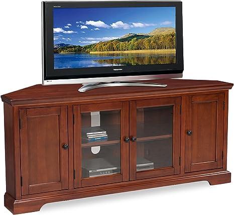 Amazon Com Leick Westwood Corner Tv Stand 60 Inch Cherry Hardwood Furniture Decor