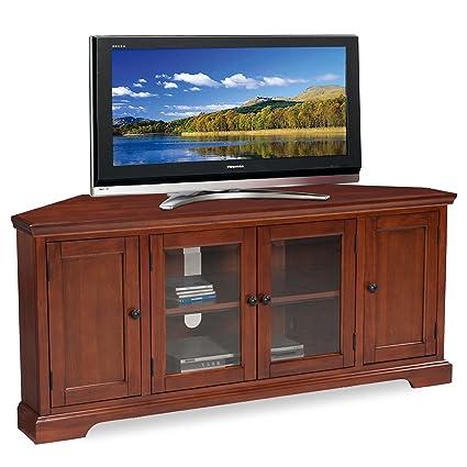 Amazoncom Leick Westwood Corner TV Stand 60Inch Cherry Hardwood