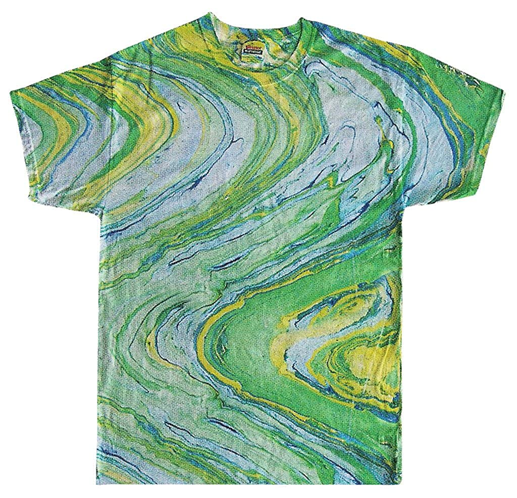 Yoga Clothing For You Mens Marble Tie Dye Tee Shirt