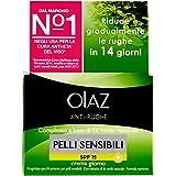 Olaz Antirughe Crema Idratante e Delicata per Pelli Sensibil, SPF 15, 50 ml