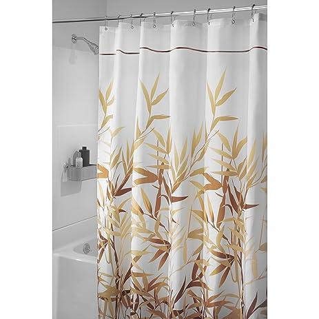 Genial MDesign Meadow Fabric Shower Curtain   Long, 72u0026quot; X 84u0026quot;, ...