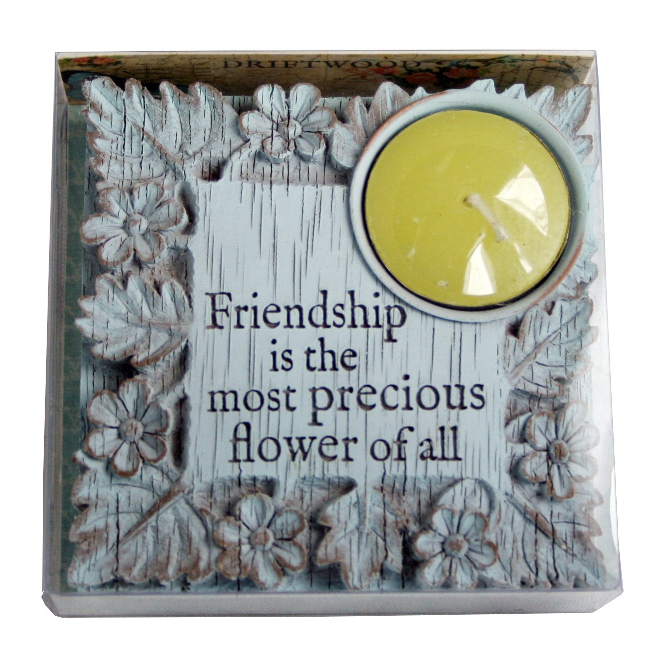 Driftwood Tealight Holders-Friendship is The Most/…