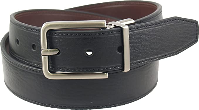 "Dickies Leather Belt Mens 1 3//8/"" Beveled Edge Bridle Belt w// Roller Buckle"