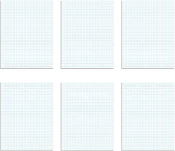 Tops Two Rule Sizes Graph Paper