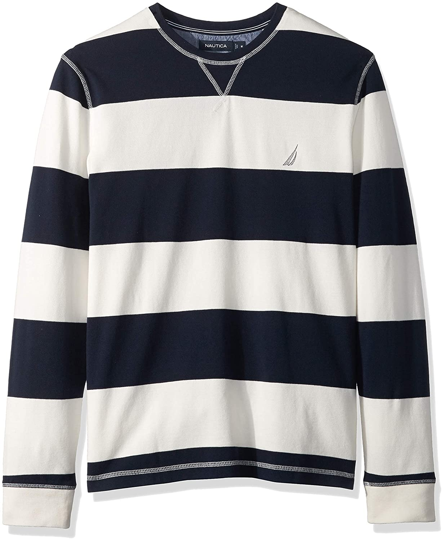 Nautica Hombre K83106 Manga Larga Camisa Polo - Blanco - Large ...