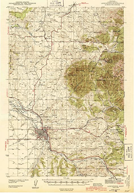 Lewiston Montana Map.Amazon Com Yellowmaps Lewistown Mt Topo Map 1 62500 Scale 15 X