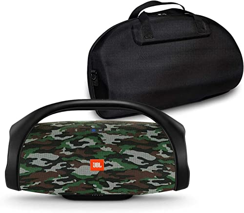 JBL Boombox Portable Bluetooth Waterproof Speaker Bundle with Hardshell Storage Case – Camouflage