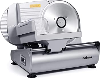 """CUSIMAX Electric Removable Stainless Steel Blade 7.5"""" Meat Slicer"""