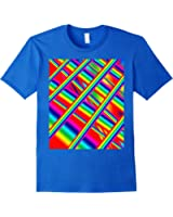 Colorful prism 3D rainbow abstract art T-Shirt