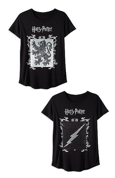 Primark Camiseta de Manga Corta - para Niña Negro Negro (14 ...