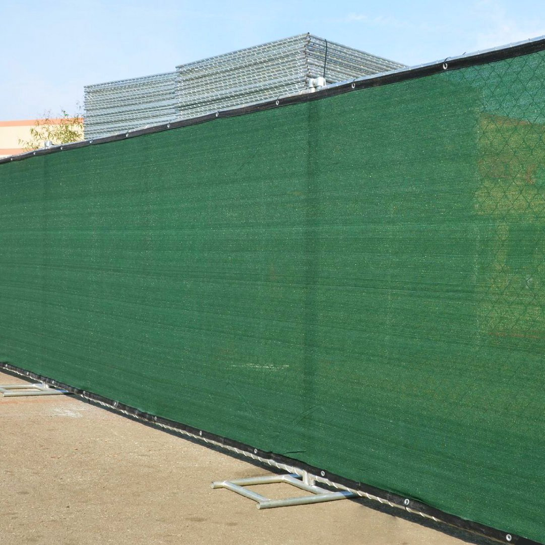 Amazon.com : Commercial Grade 6' x 50' Fence Wind Privacy Screen Mesh Brass  Grommets 6x50 : Garden & Outdoor