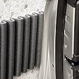 Paragolpes de pared Mondaplen (protector columnas garaje, coche): tiras de espuma protectoras autoadhesivas para acolchar cualquier superficie en su hogar u oficina. Utilizadas muy comúnmente en muros de garajes para proteger las puertas de los coches. Cada paquete contiene 2 tiras de ≈ 1.35 m x 17 cm. Color: Negro