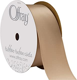 "product image for Offray Berwick 1.5"" Single Face Satin Ribbon, Champagne Beige, 25 Yds"