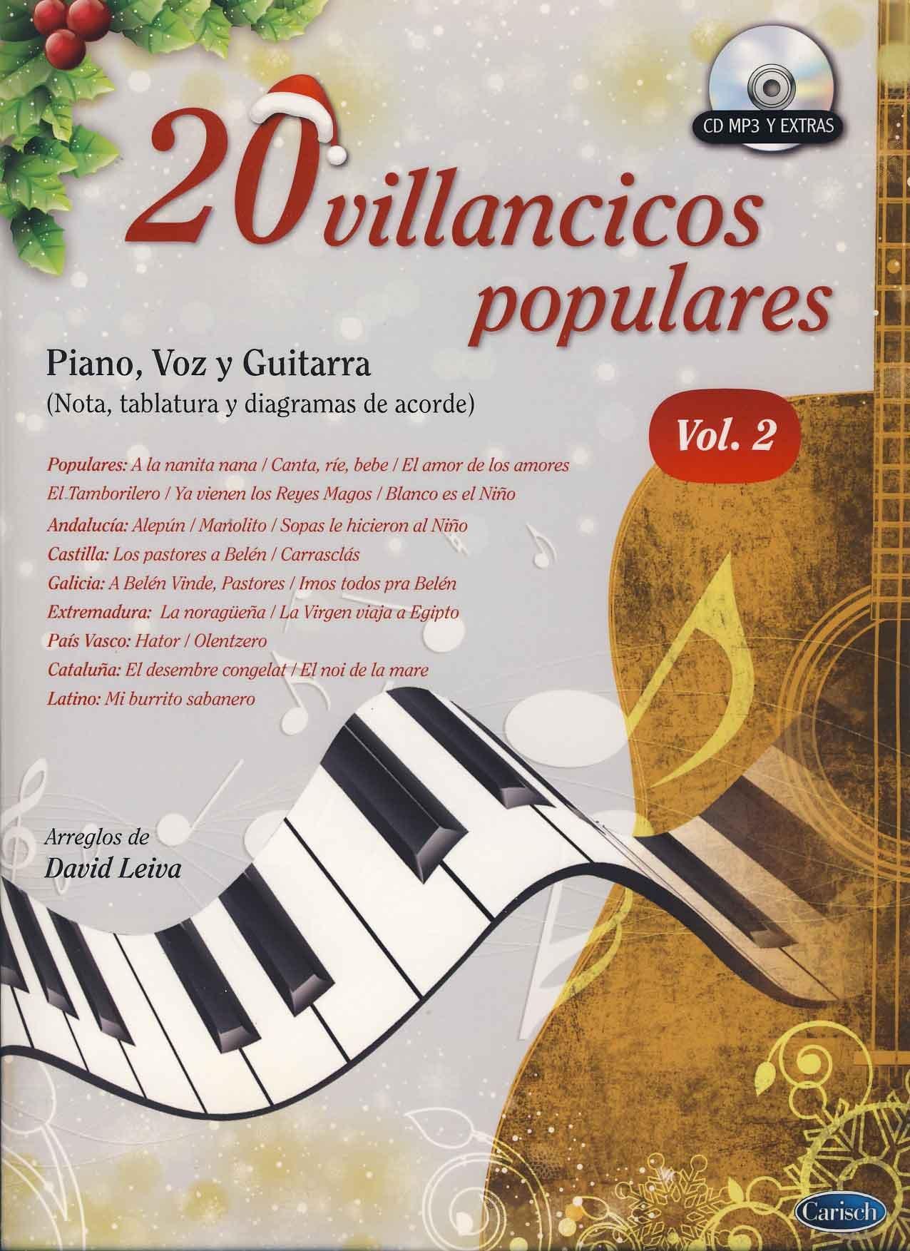 20 Villancicos Populares: Piano, Voz Y Guitarra - Vol.2 ...