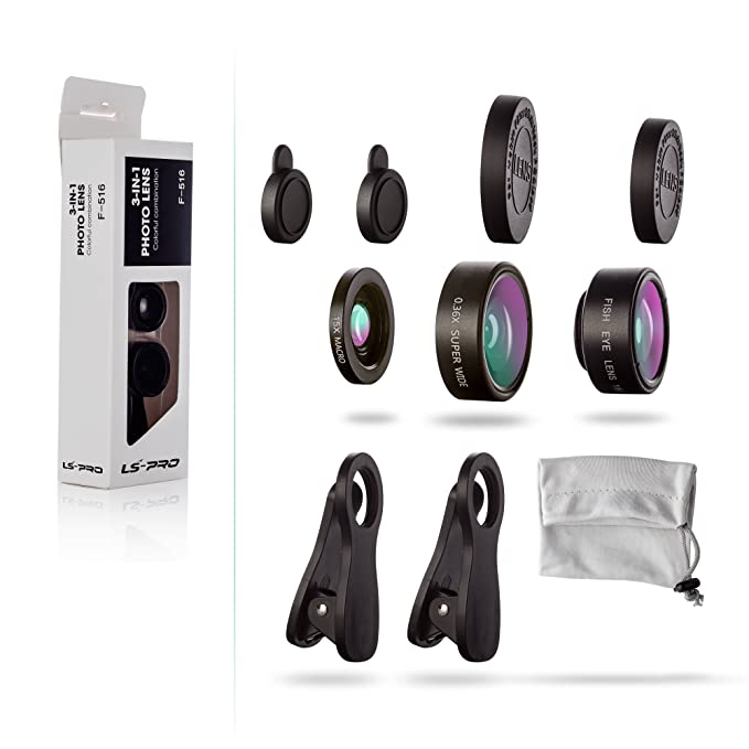 cell phone camera lens kit ls pro best quality 3 in 1 mobile lens