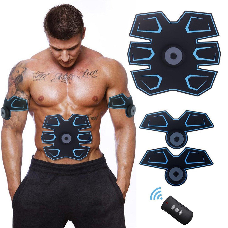 Buydaly intelligent Wireless fitness appareil,Tonique de muscle abdominal,équipement portatif d'entraînement de forme physique,exercice sans fil de muscle pour l'entraînement d'abdomen/bras/jambe