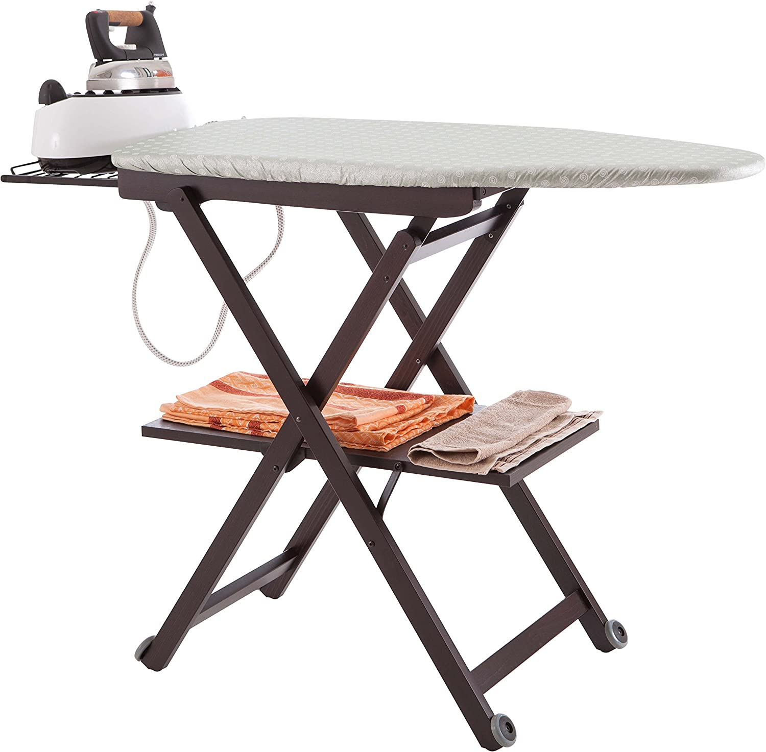 Arredamenti Italia AR_IT- 621 STIROCOMODO adjustable ironing board finishing cherry. Brown