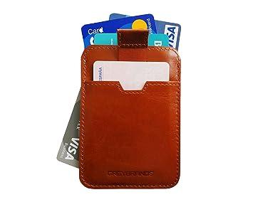 Cartera Ultra Delgada para Hombres con Cuero Genuino Diseño Moderno | Billetera Minimalista | Bloquea señal RFID | Tarjetero pequeño | Caja de Lujo para ...