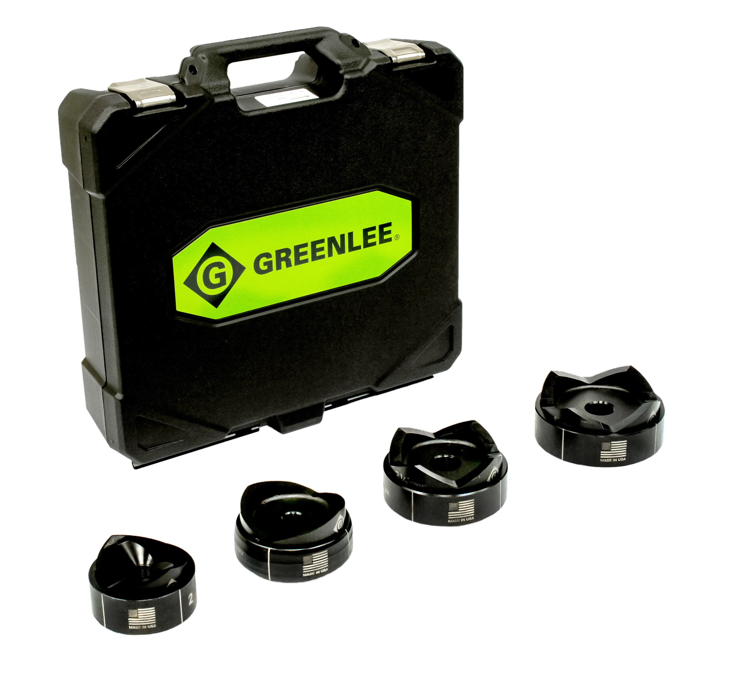 Greenlee 7304 Standard Punches and Dies For 2-1/2 through 4-Inch Conduit by Greenlee