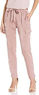 product image for James Jeans Women's Shelby Slim Slouch Tie Waist Cargos in Rose