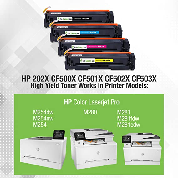 Amazon.com: Ser verde tinta 202 x HP m281fdw m281cdw ...