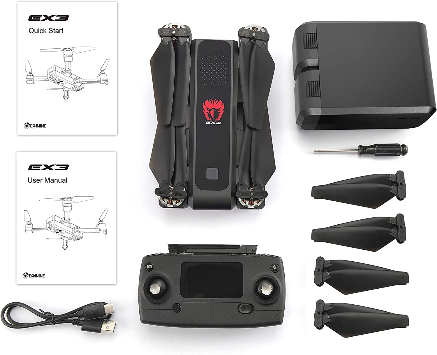 Eachine Ex3 foldable drone is at # 11 for best drones under 300 dollars
