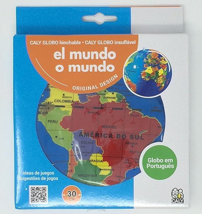 Caly- Globo terráqueo Hinchable (Mapiberia CAGLOBO30P ...