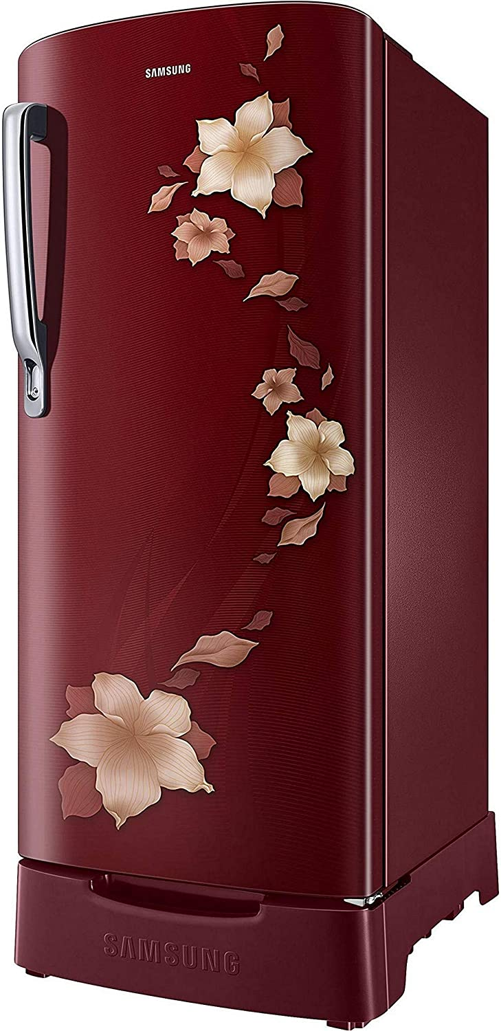 Samsung 192 L 2 Star ( 2019 ) Direct Cool Single Door Refrigerator( RR19N1822R2/HL / RR19R2822R2/NL, Star ( 2019 ) Flower Red, Base Stand with  Drawer): Amazon.in: Home & Kitchen
