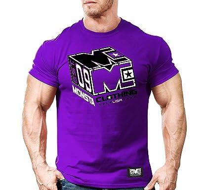 aef4d3b182f2 Amazon.com: Monsta Cube-270-Purple T-Shirt: Clothing