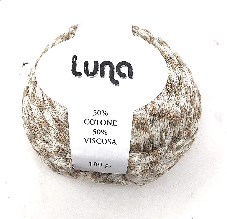 Chicca Tutto Moda Gomitolo per Lavoro a Maglia Ferri 4//5 per Misto Cotone 100 Grammi 300 m Alta qualit/à Made in Italy Luna Ecru