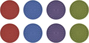 OXO Good Grips Coasters, Red, Purple, Green and Blue, Set of 8,Colors,