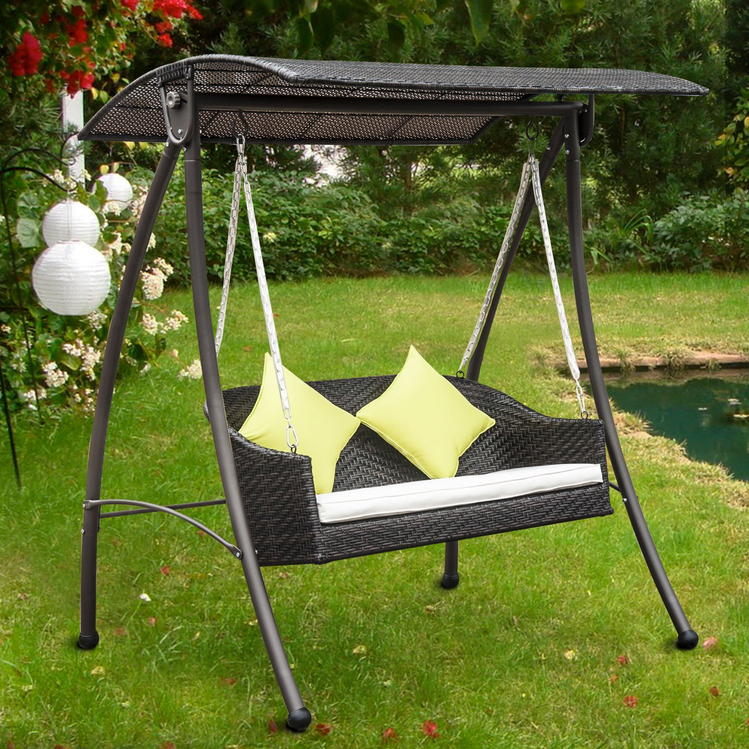 hg stand air chaise wh chair hammock swing new arc lounger canopy itm porch hanging swinging