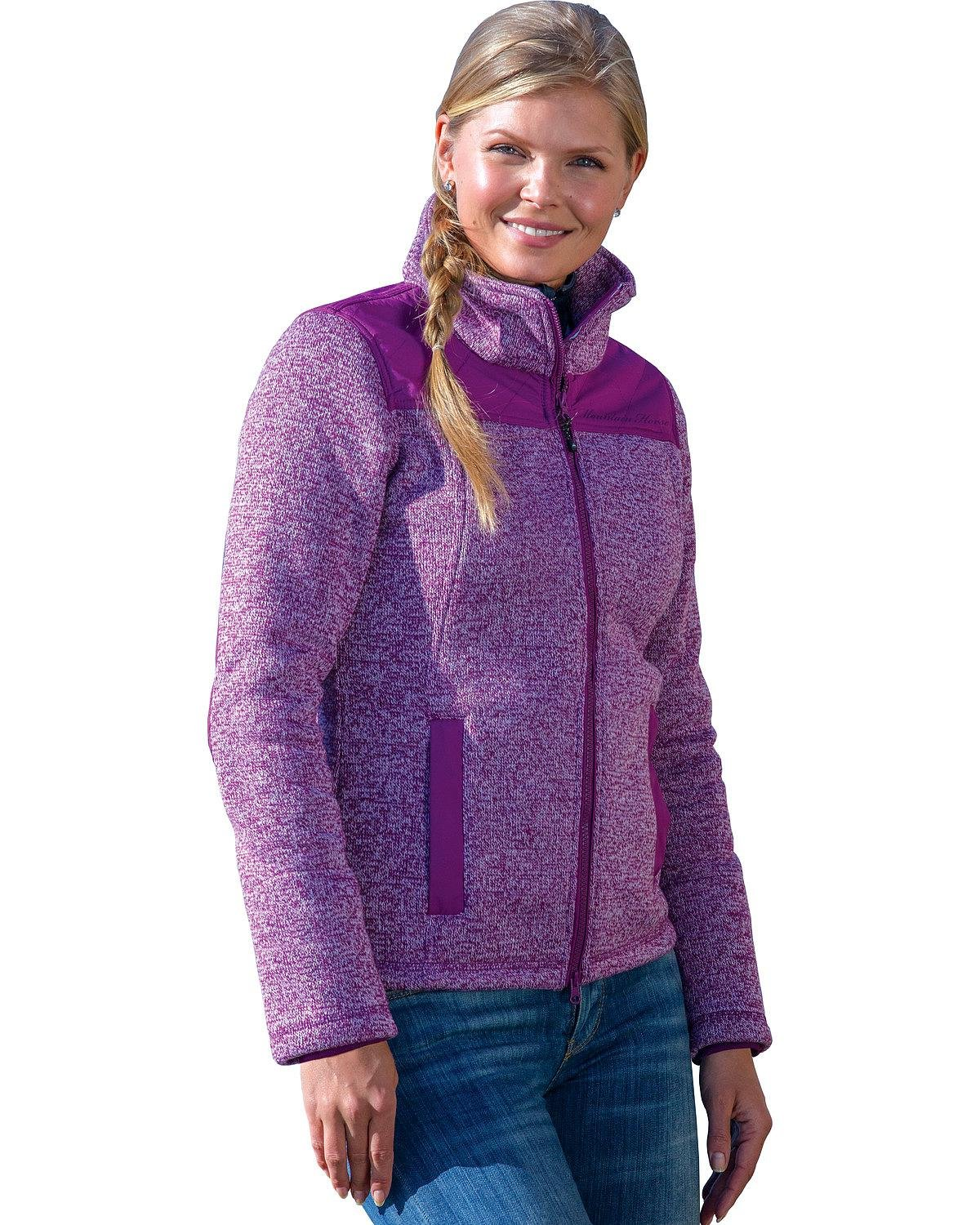 Mountain Horse Women's Welsh Fleece Jackets Purple Medium US by Mountain Horse