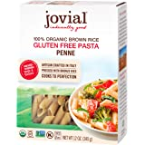 Jovial Penne Rigate Gluten-Free Pasta | Whole Grain Brown Rice Penne Rigate Pasta | Non-GMO | Lower Carb | Kosher | USDA…
