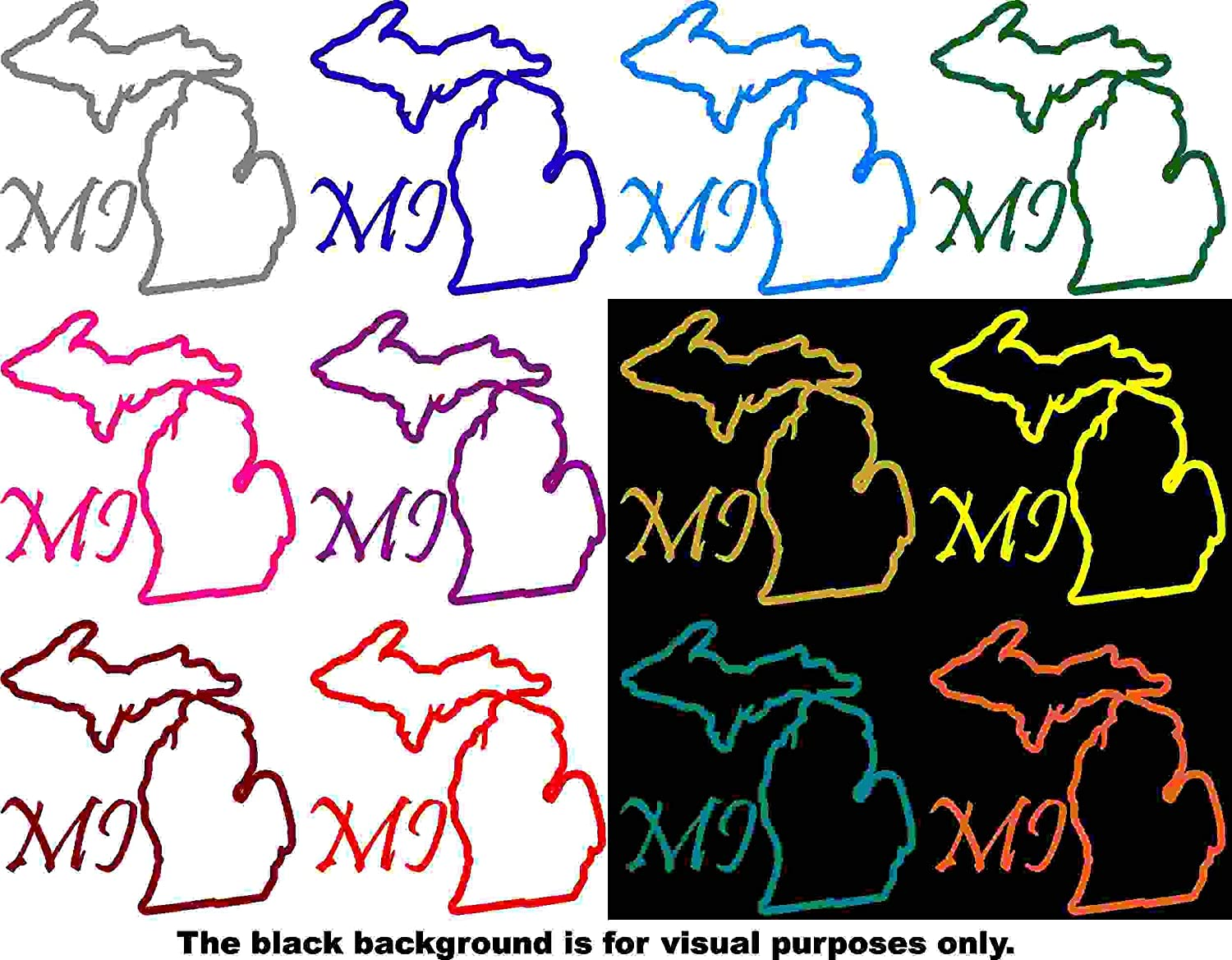 Choose Color V and T Gifts States Michigan Decal