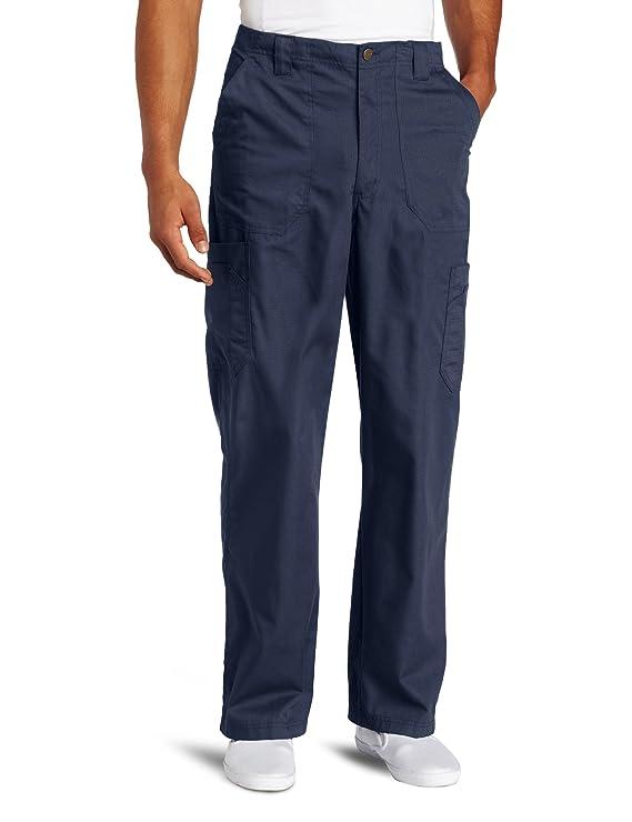 Carhartt Men's Ripstop Multi-Cargo Scrub Pant, Navy, Large best men's scrub pants