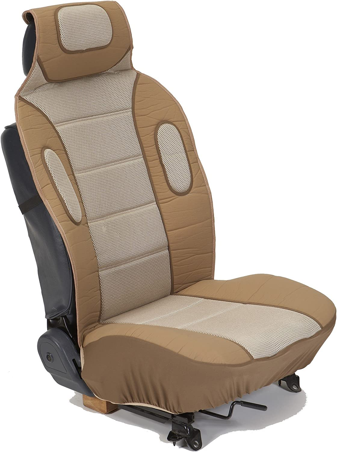 Eurow Sideless Sport Mesh Seat Cover (Tan, 2-Pack)