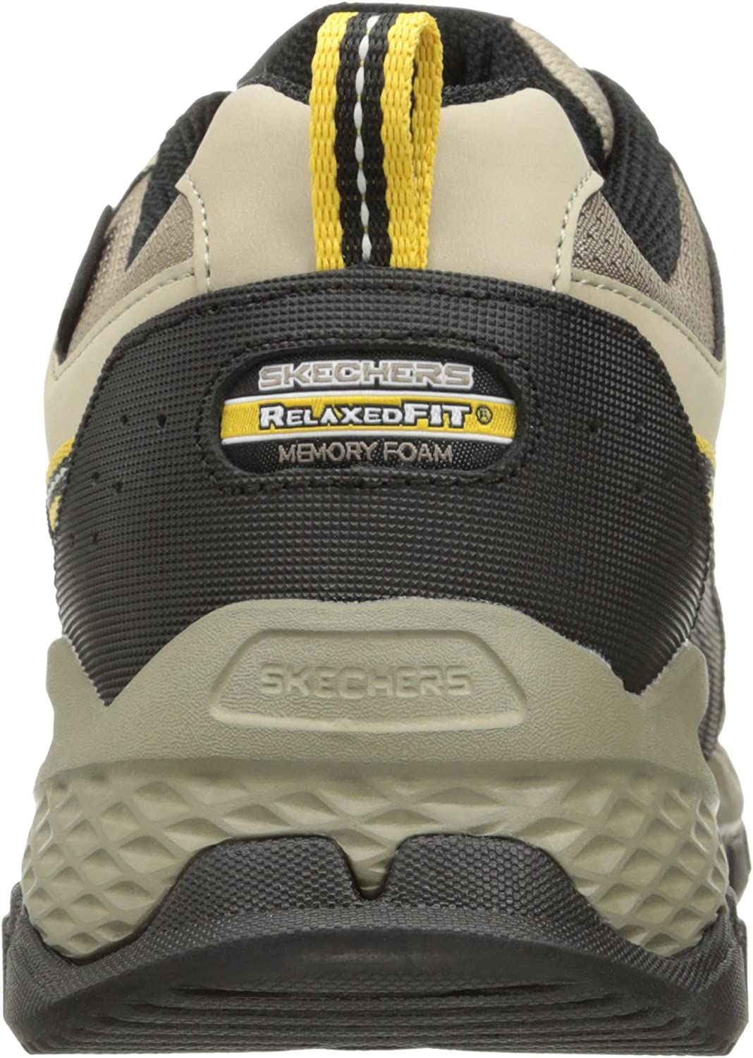 Skechers Men's Outland 2.0-Rip-Staver Hi-Top Trainers Beige Taupe Black Tpbk