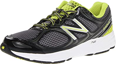 New Balance Men's M840v2 Running Shoe,BlackGreen,7