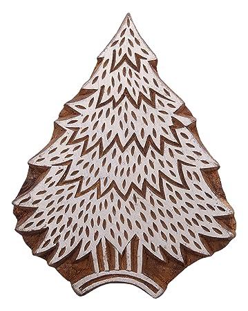 Dekorative Weihnachtsbaum-Muster aus Holz Stempel Hand geschnitzt ...