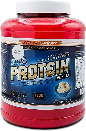 SOTYA Proteína Soja 100% Vainilla 1.800 gr: Amazon.es ...