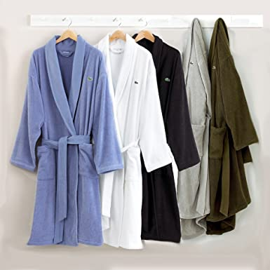 Size Robe New Dressing Lacoste Textured Gown Mens Genuine One vmw80ONyn