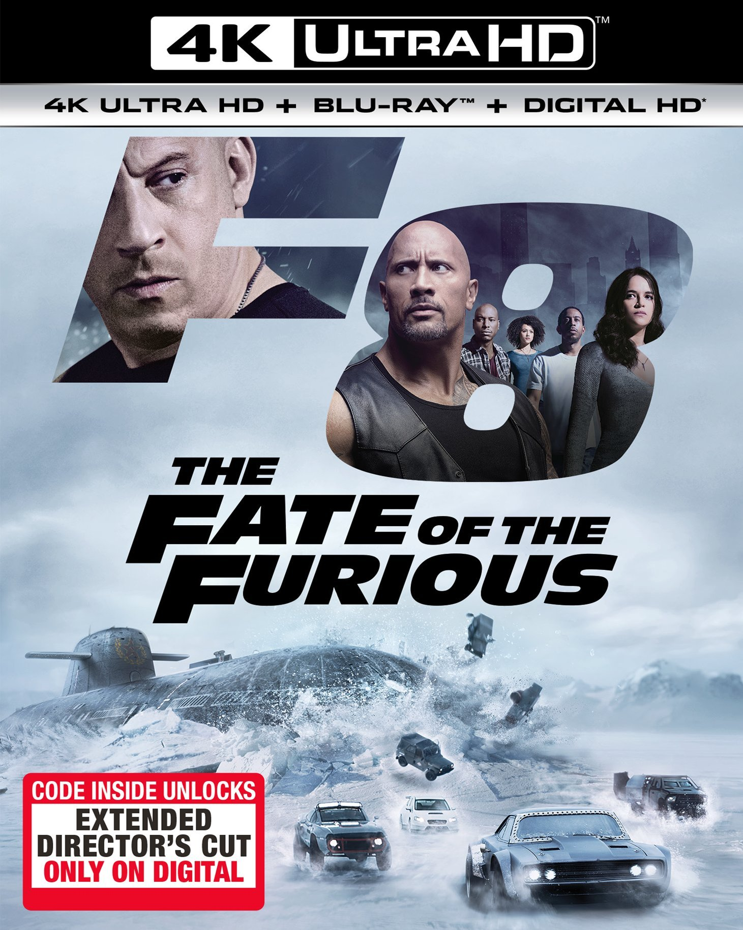 4K Blu-ray : The Fate of the Furious (With Blu-Ray, 4K Mastering, Ultraviolet Digital Copy, Digitally Mastered in HD, Digital Copy)