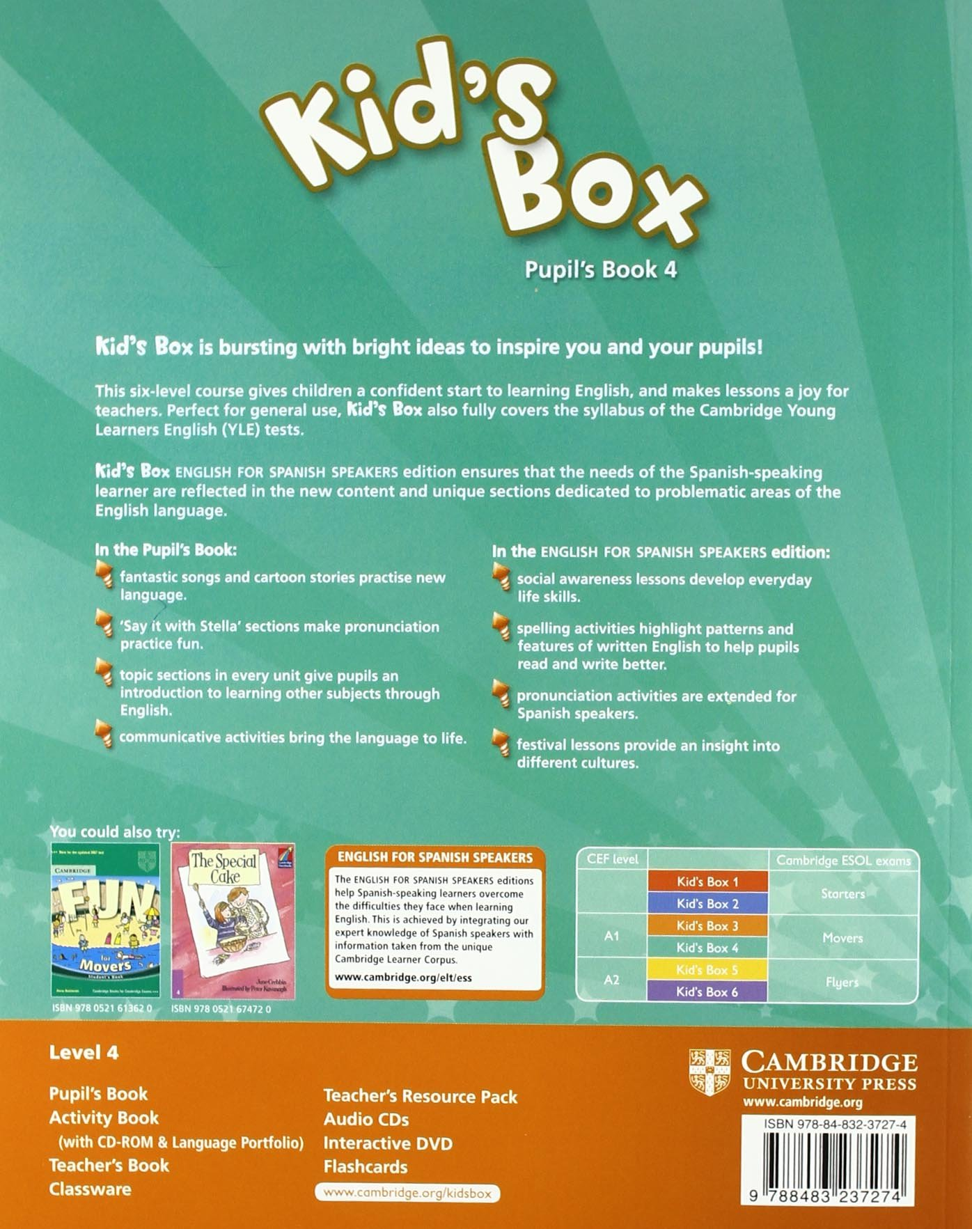 Kid's Box for Spanish Speakers 4 Pupil's Book - 9788483237274: Amazon.es:  Caroline Nixon, Michael Tomlinson: Libros en idiomas extranjeros