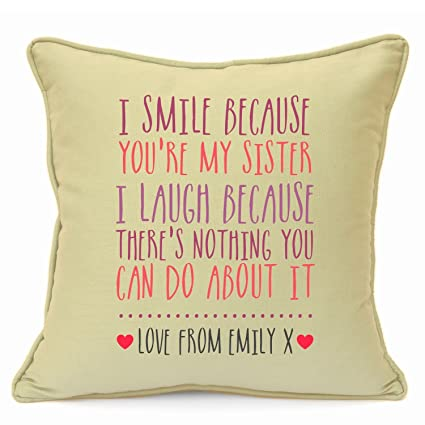 Personalised Presents Gifts For Sister Best Friends Colleagues Cousins Birthday Christmas Xmas New Home House Warming
