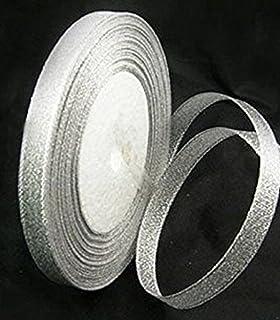 09df051d2229 1 x 25 yards Organza Ribbon - GLITTER SHINY SILVER - 10mm wide - 25 yards  per reel roll…