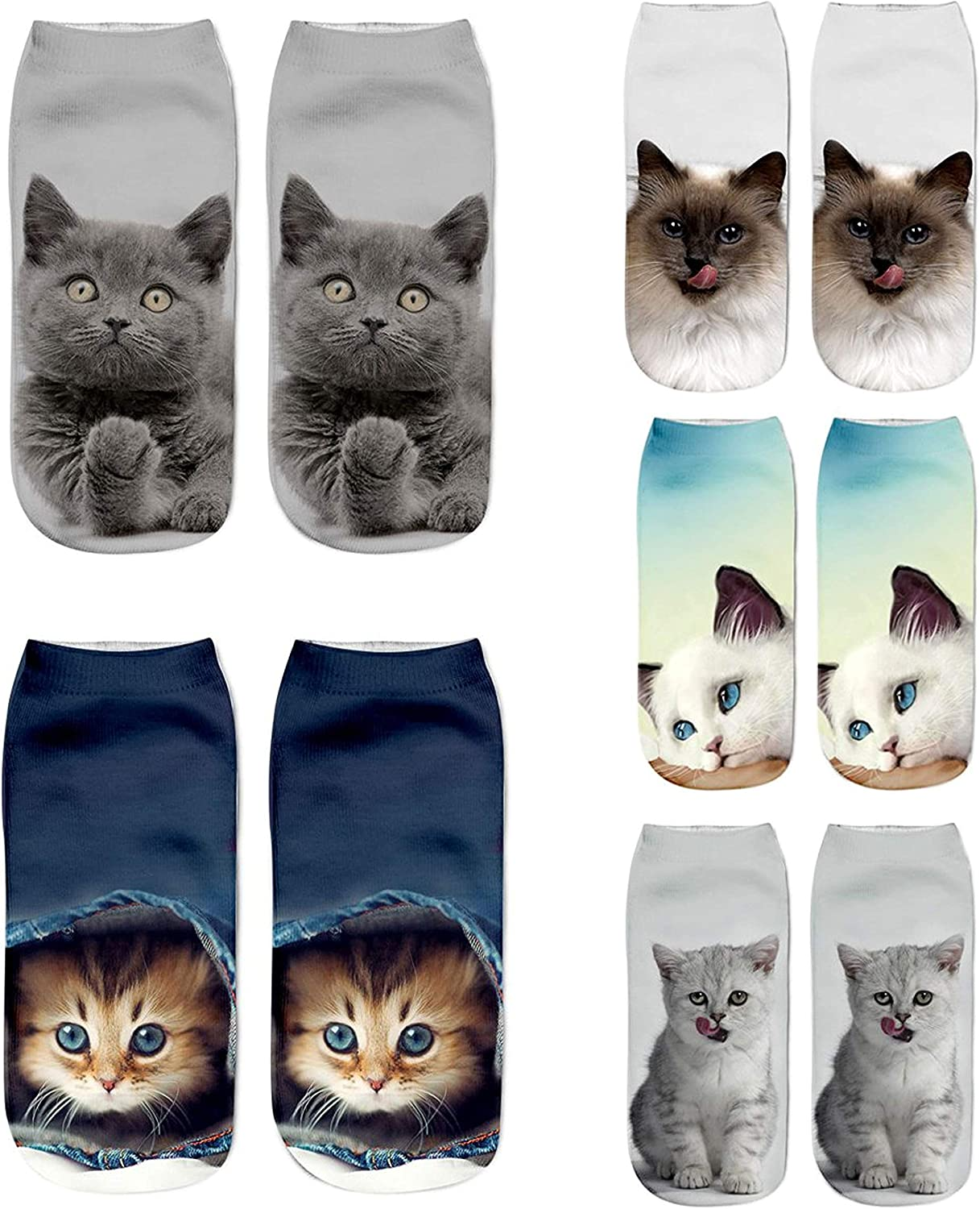 Gather Other Cute Unicorn Priting Ankle Socks Sports Stocking 3Pairs